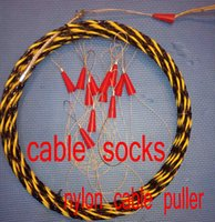 Wholesale 7mm nylon cable puller push pull rod duct rodder fish tape wire puller snake rod cable socks wire grip meters