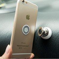 Al por mayor-rotativo magnético Titular del montaje del coche para Samsung Accesorios GPS Stent para Iphone 6 caballete de soporte del teléfono celular magnética Soporte para coche