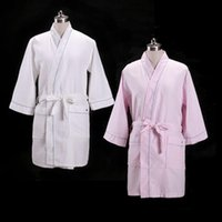 Wholesale summer thin waffle robe cotton pajamas clothing Home Furnishing couple pure air Hotel available
