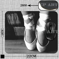 ballet mats - Ballet Toe Shoes Anti Skid Rubber Mouse Mat Pad Soft Comfort Feel Computer Mousepad for Optical Laser Mouse