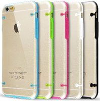 clear iphone case - For iPhone S Galaxy S5 Luminous TPU Bumper Soft Clear PC Back Cover Case For iPhone TPU Case