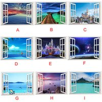 beautiful landscapes - Kimisohand New Hot D Ocean Sea Window Home Decor Wall Sticker Wall Decals Beautiful Sea Mural