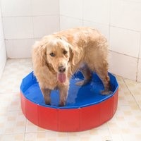bathing basin - High Quality Pet Dog Basin of Bath Tub PVC Fabric Material Dog Accessories Grooming Bathing to Wash Dogs Swimming Pool order lt no track
