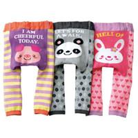 Wholesale 2015 New Arrival Baby Pants Cotton Bebe Leggings Girl s Leg Warmers Panda Rabbit Long Trousers