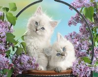 Wholesale 3d diy diamond painting flower basket cat needlework embroidery kit wall stickers home decoration embroidery painting