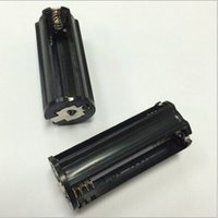 Wholesale Black Cylindrical type Plastic Battery Holder for AAA For LED Flashlight Torch