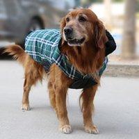 Дизайнер собак RU-2 015 Водонепроницаемый собак Реверсивный Куртка Конструктор Теплый плед зима Собака Пальто Одежда для животных Elastic мала до велика Одежда для собак зимой