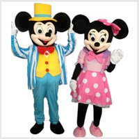 Wholesale Mickey Minnie Mouse Mascot Costume Cartoon Character Costume Gentlemen Mickey Lady Minnie Costume Adult Size cm