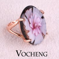 Wholesale Rhinestone Rings vintage jewelry Artificial Gemstone K Rose Gold Plated with Colors VR Vocheng Jewelry