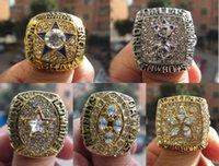 all'ingrosso dallas championship ring-1971 1977 1992 1993 1995 Dallas Cowboys anello di campionato regalo ventilatore 5 insieme