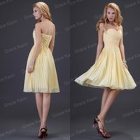 Cheap Sexy 2015 Grace Karin Short Sweetheart Chiffon Bridesmaid Dresses Blackless Lace Up Wedding Party Homecoming Dresses Prom Gowns Under 50