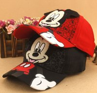 Wholesale NEW ARRIVAL boys girls Summer Hats Child Cartoon Mickey Minnie mouse Caps Kids sun Hats For Baby suit for T