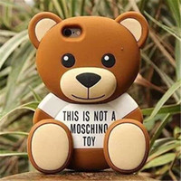 Wholesale Hug Teddy Bear Silicone Soft Cover Case For iPhone inch NEW Cute Can sit up DHL