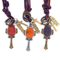 badminton racket china - Badminton Racket Adjustable Leather Necklace Metal Pendant Charms Punk Rock Hiphop Decorations Amulet Fashion Jewelry