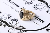 Cheap Black Precious Stones ring Best fashion ring for men