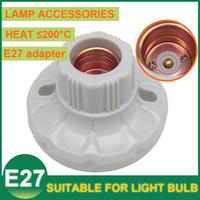 bakelite material - E27 LED Light Screw Lamp Holder Bases LED Bulb Sockets Adapter Converter Bakelite Material Flat Spiral Accessories LED Energy Saving Light