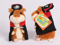 Wholesale 30pc W110 New Lovely Talking Sound Record Electronic Navy Pirate Hamster Plush Toy Kids Gift