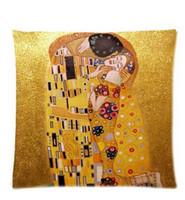 artist klimt - 2015 New Gold Painter Artist Gustav Klimt Painting X45 CM Soft Pillowcase cushion case