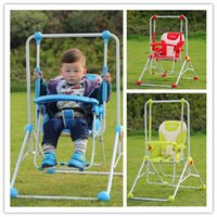 Wholesale Indoor Outdoor Baby Swing Hanging Chair Dining Chair Multi function Steel Frame Baby Bouncer Swing Three Colors for Option