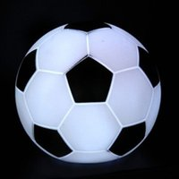 Wholesale 20PCS Colorful LED Flashing Football Soccer Light Lamp Night light Party Holiday Decoration Xmas Gift Present toys For Children