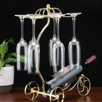 Wholesale Wrought iron red wine glass amphibious home furnishing articles fashion ideas