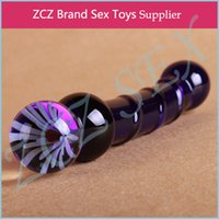 Wholesale ZCZ Fashion Blues Pyrex Crystal Dildo Glass Dildos Penis Anal Female Sex Toys DX254