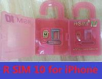 Wholesale New R SIM RSIM R SIM Unlock Card Perfect unlock iphone6 plus iphone6 s c IOS8 ios x T mobile Sprint WCDMA GSM CDMA DHL Free