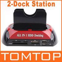 aluminum dock parts - 2 quot quot SATA IDE Double Dock HDD Docking Station e SATA Hub External Storage Enclosure Parts Free Drop Shipping order lt no t