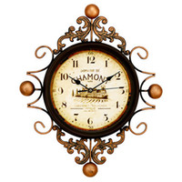 Wholesale Vintage Style Art Clock Florence Tuscan Style Wall Clock Retro Decorative Metal Wall Clocks for Living Room cm cm