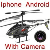 Control remoto iphone España-El envío libre WL juega el quadcopter teledirigido androide del helicóptero de s215 3.5ch Iphone Ipad RC con el i-Helicopter de la cámara
