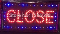 Wholesale hot sale custom led sign X19 inch indoor Ultra Bright flashing led light display business store closed amp open signage