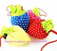 strawberry folding shopping bag - 200pcs Portable Cute Strawberry Bags Eco Reusable Shopping Bag Tote Folding Foldable Bag
