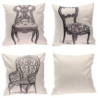 Wholesale 5pcs Vintage Pillow Cases Chair Pattern Cushion Covers Chinese Style Home Supplies For Home Decoration EXO24