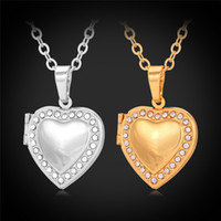Wholesale Pendant Necklace Heart Austrian Rhinestone K Real Gold Platinum Plated Fashion Jewelry For Women Men Accessories Brand P371