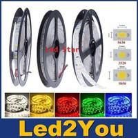 Wholesale 3528 V Led Strip Light LEDs m M LEDs Flexible Led Tape Rope Lights Warm Pure White Red Blue Green
