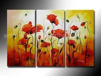 asian flower paintings - Abstract Flower Oil Paintings Piece Wall Asian Wall Art Painting Canvas Black White Study Art High Quality Oil Paintings