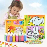 Wholesale DIY sand drawing toys sand paper sand painting set with colors sand sand drawing paper learning and educational toys