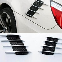 Wholesale 2Pcs Shark Gills Car Exterior Decor Stickers Side Vent Air Flow Fender
