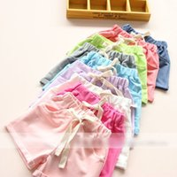Wholesale New Product For Colors Girls Clothes Shorts Children Clothing Solid Elastic Short Pants Kids Colorful All Match Half Trousers L486
