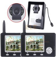apartment intercom systems wireless - 1 to in One outdoor camera with two indoor monitors apartment intercom system wireless Video Door Phone