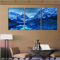 Cheap Free shipping Unique gift Modern home decoration wall art Canvas art 3 panel Chinese painting Pure hand-painted Panel art ice mo