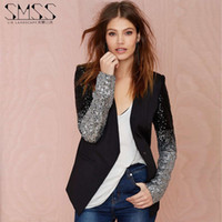 Wholesale Smss A New Spring Pu Leather Stitching V Collar Biker Jacket Embroidered With Sequins Self cultivation Suit Female FG1511