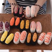 barrel sock - Mens Women Ideasox Japan Harajuku Creative Gift Food Sushi Personality Long Barrel Lovers Cotton Cheap Socks