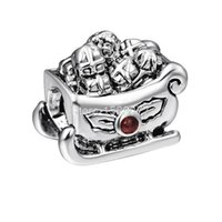 best sleds - ashion Jewelry Charms Fashion Sled Design Sterling Silver European Screw Bead Charm Best Unique Christmas Jewelry For Snake Brac