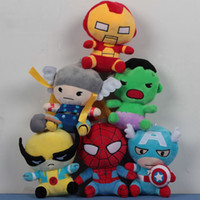 Wholesale The Avengers SuperHeroes Plush Toys Cute Spiderman Cartoon Animals Dolls Classic Toys Baby Gifts PP Cotton CM Style