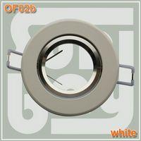 Wholesale high quality aluminum spotlight fitting aluminium body Holder Socket GU10 white color