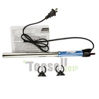 Wholesale 100w V Aquarium Thermostat Heater Thermostat Semi Stainless Steel Aquarium Heater US plug High quality