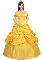 belle beige - Beauty And The Beast Belle Princess Cosplay Dress Yellow Custom Made Costume For Women Or Girls Customized Cosplay Dresses