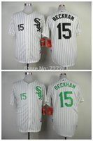 beckham jersey number - 2016 Stitched Men s Baseball Jersey Chicago White Sox Gordon Beckham White w Green Number Cool Base Jersey Size M XXXL