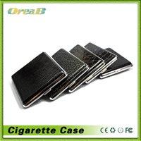 Cheap Wholesale -Classic Leather Alloy & PU Cigarette Case Box Metal Holder 12pcs 14pcs 16pcs 18pcs 20pcs Cigars Black Free Shipping